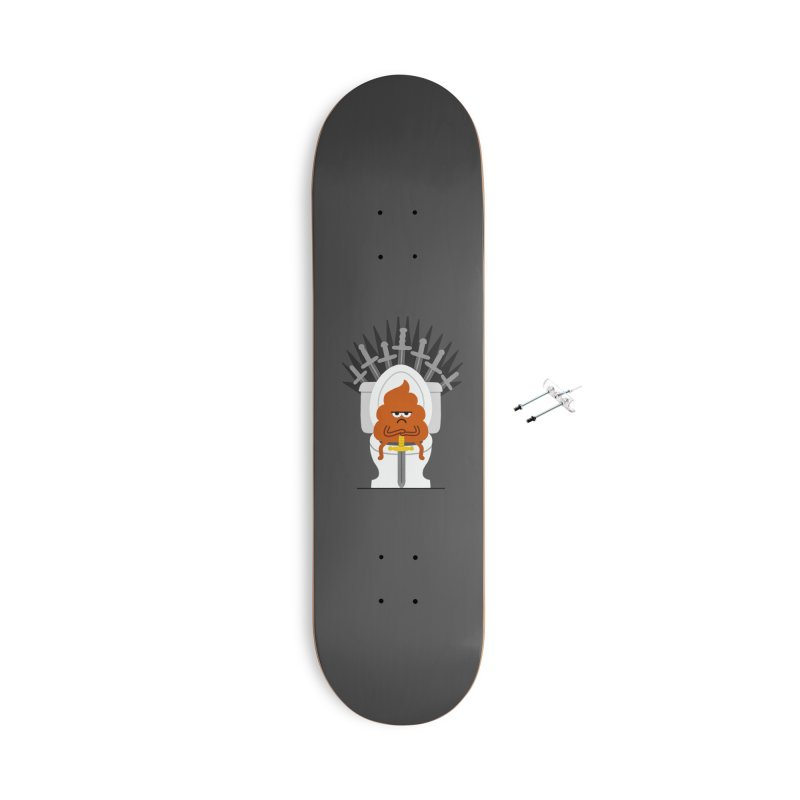 Game Of Toilets Accessories With Hanging Hardware Skateboard by Mauro Gatti House of Fun