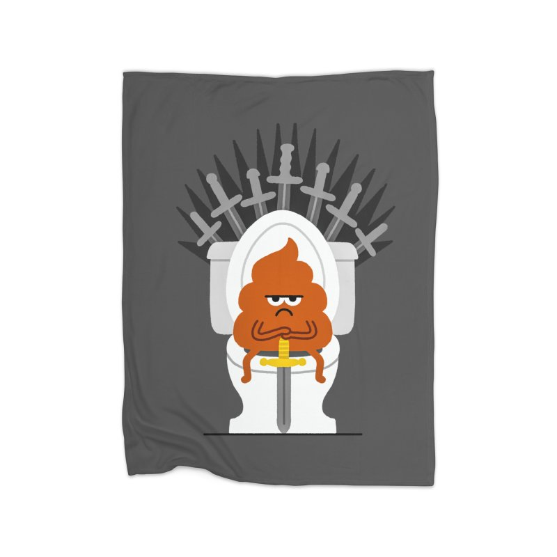 Game Of Toilets Home Fleece Blanket Blanket by Mauro Gatti House of Fun
