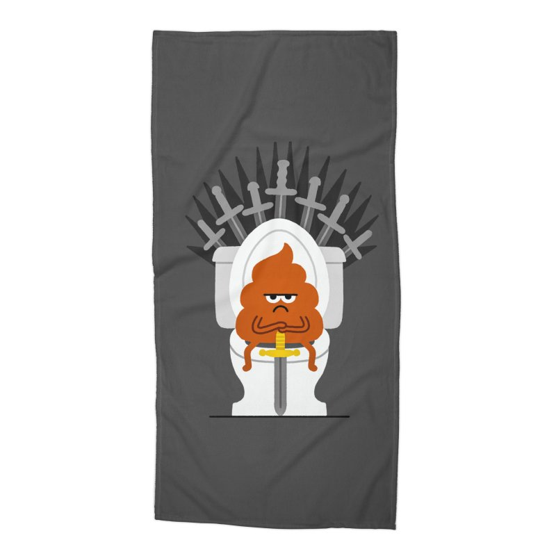 Game Of Toilets Accessories Beach Towel by Mauro Gatti House of Fun