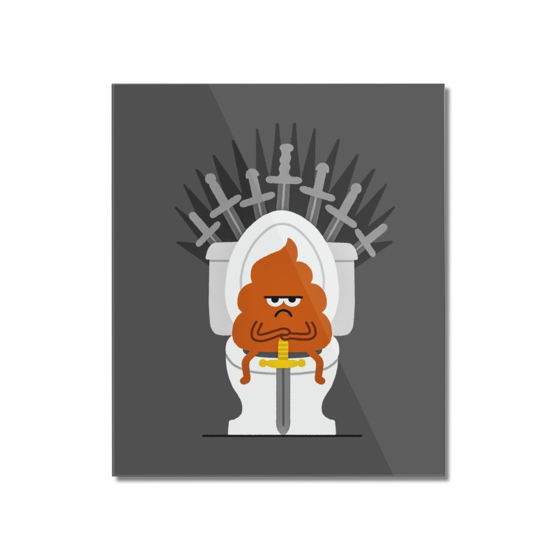 Game Of Toilets Home Mounted Acrylic Print by Mauro Gatti House of Fun
