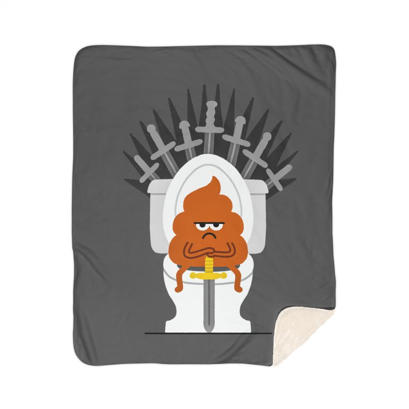 Game Of Toilets Home Sherpa Blanket Blanket by Mauro Gatti House of Fun