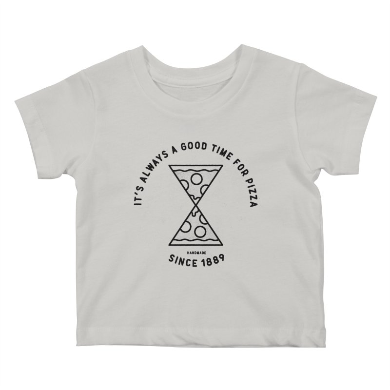 It's Always a Good Time For Pizza Kids Baby T-Shirt by Mauro Gatti House of Fun