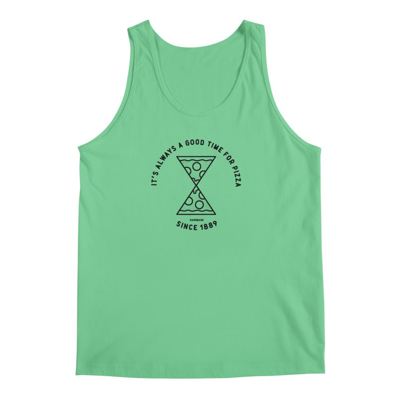 It's Always a Good Time For Pizza Men's Tank by Mauro Gatti House of Fun