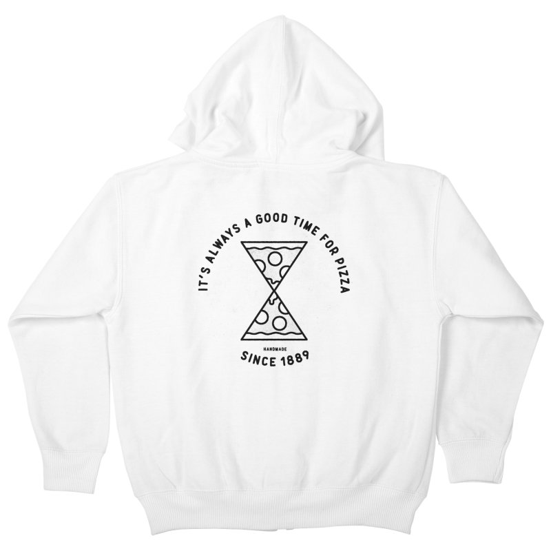 It's Always a Good Time For Pizza Kids Zip-Up Hoody by Mauro Gatti House of Fun