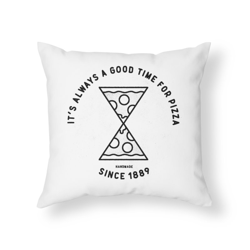 It's Always a Good Time For Pizza Home Throw Pillow by Mauro Gatti House of Fun