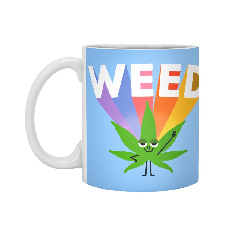Weed Accessories Standard Mug by Mauro Gatti House of Fun