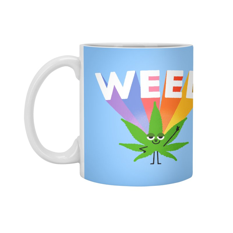 Weed Accessories Mug by Mauro Gatti House of Fun