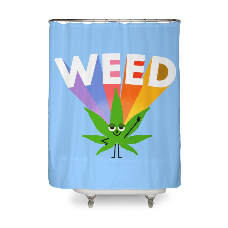 Weed Home Shower Curtain by Mauro Gatti House of Fun