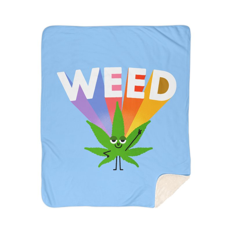 Weed Home Sherpa Blanket Blanket by Mauro Gatti House of Fun