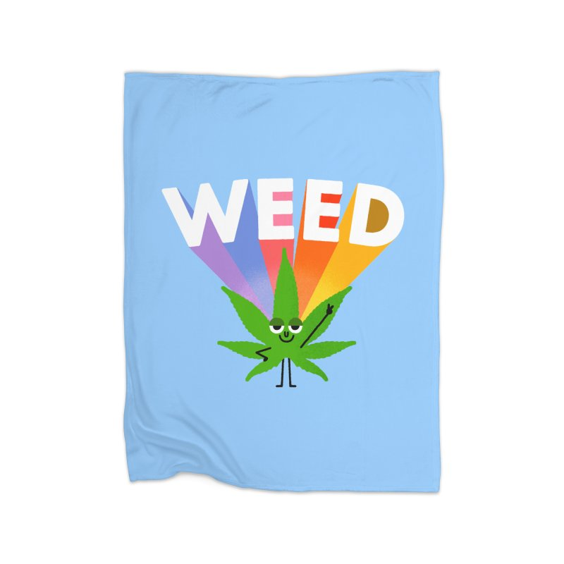 Weed Home Fleece Blanket Blanket by Mauro Gatti House of Fun