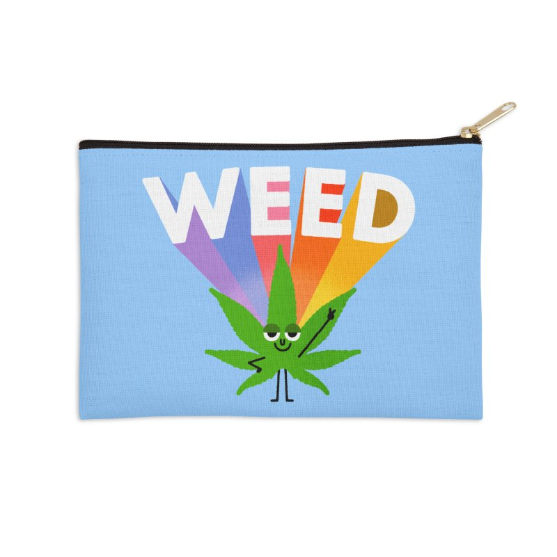 Weed Accessories Zip Pouch by Mauro Gatti House of Fun