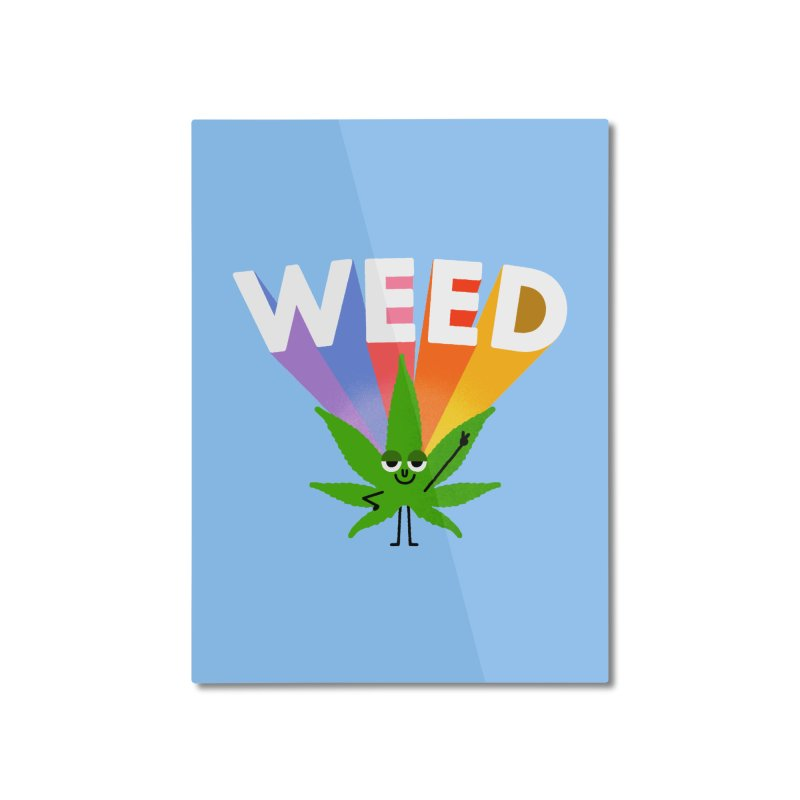 Weed Home Mounted Aluminum Print by Mauro Gatti House of Fun
