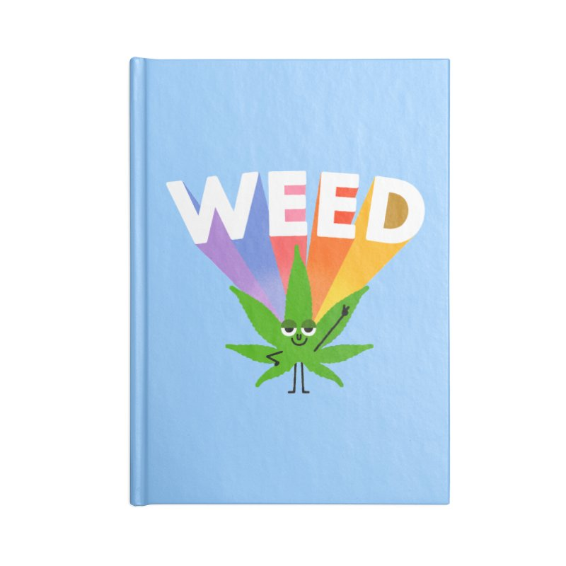 Weed Accessories Lined Journal Notebook by Mauro Gatti House of Fun