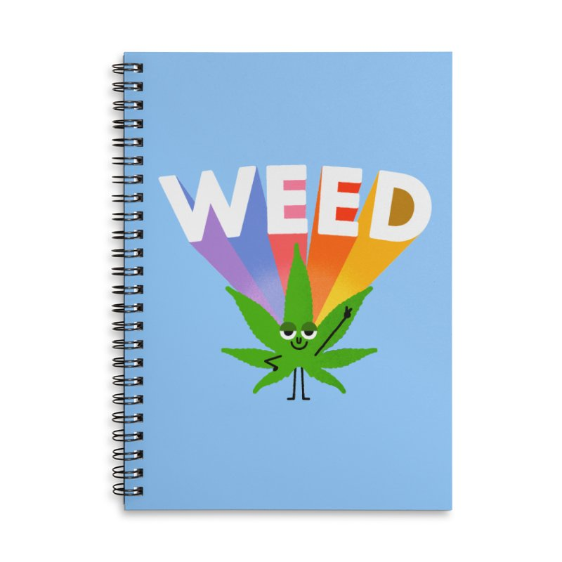 Weed Accessories Lined Spiral Notebook by Mauro Gatti House of Fun