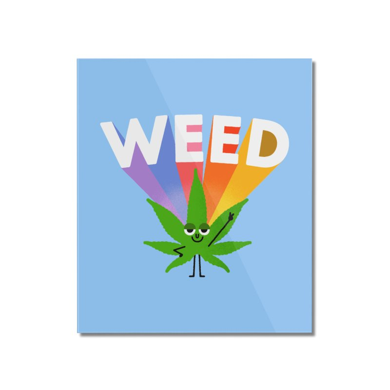 Weed Home Mounted Acrylic Print by Mauro Gatti House of Fun