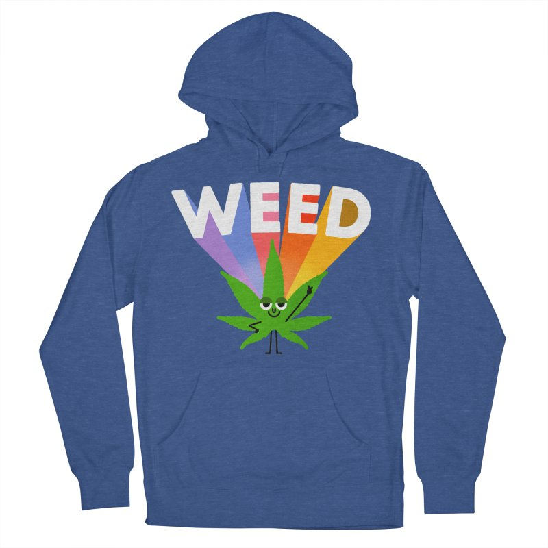 Weed Women's French Terry Pullover Hoody by Mauro Gatti House of Fun