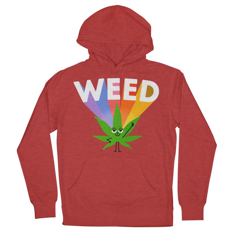 Weed Men's French Terry Pullover Hoody by Mauro Gatti House of Fun
