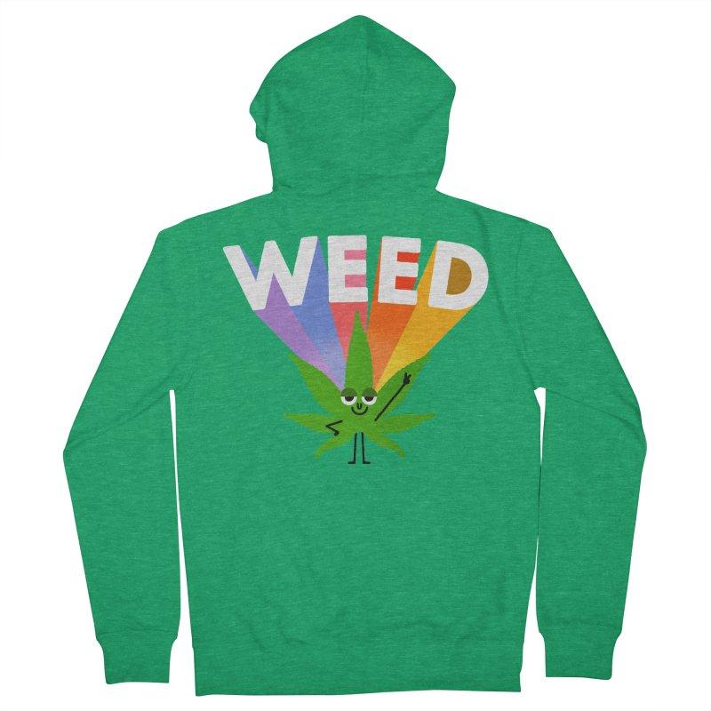 Weed Women's Zip-Up Hoody by Mauro Gatti House of Fun
