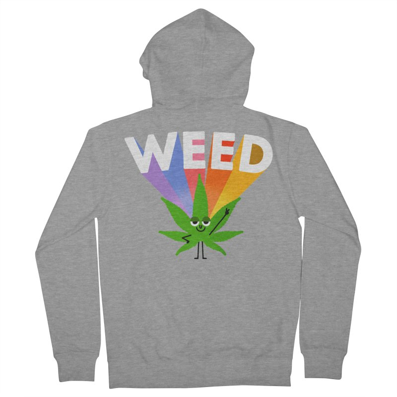 Weed Women's French Terry Zip-Up Hoody by Mauro Gatti House of Fun