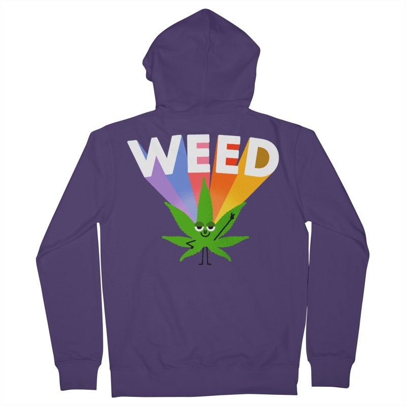 Weed Women's Zip-Up Hoody by Mauro Gatti House of Fun