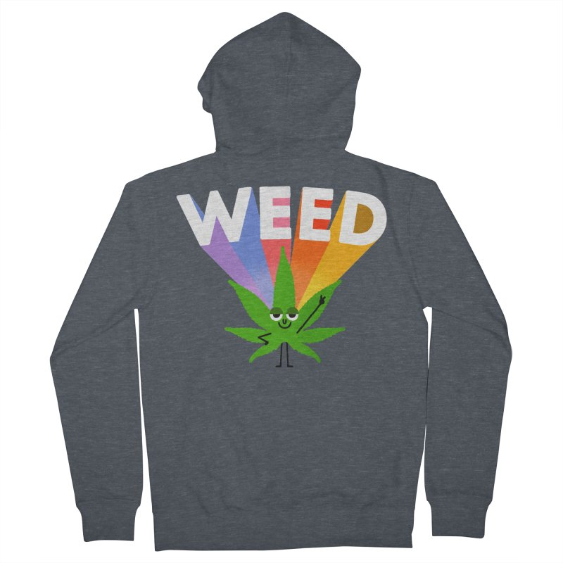 Weed Men's French Terry Zip-Up Hoody by Mauro Gatti House of Fun