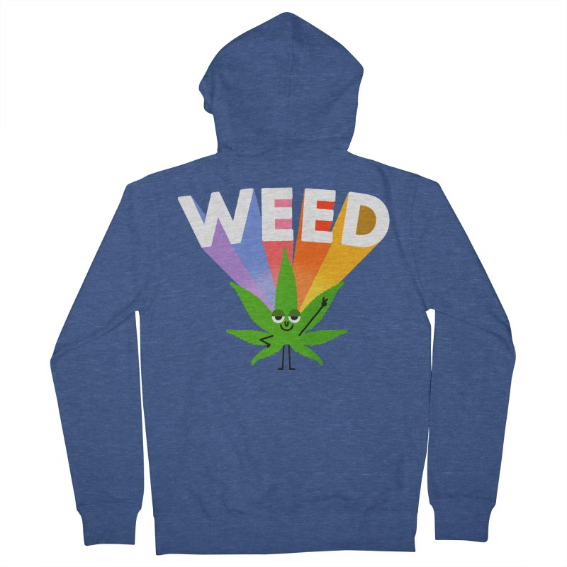 Weed Men's Zip-Up Hoody by Mauro Gatti House of Fun