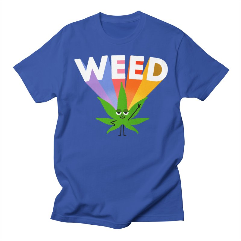 Weed in Men's Regular T-Shirt Royal Blue by Mauro Gatti House of Fun