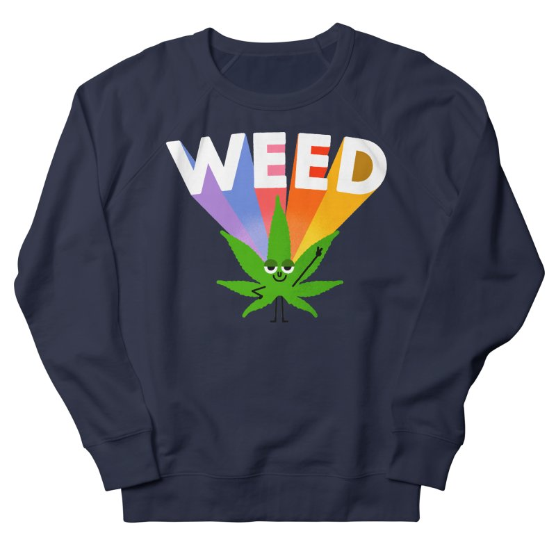 Weed Women's French Terry Sweatshirt by Mauro Gatti House of Fun