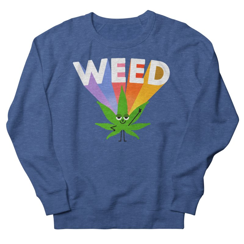 Weed Men's French Terry Sweatshirt by Mauro Gatti House of Fun
