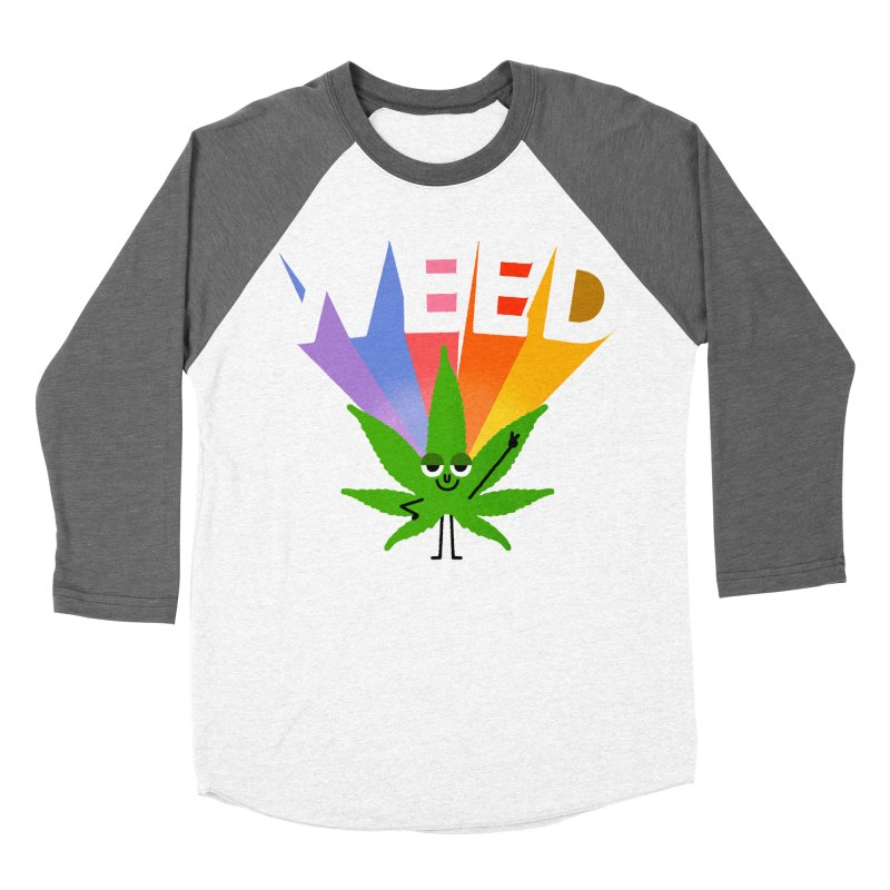 Weed Women's Baseball Triblend Longsleeve T-Shirt by Mauro Gatti House of Fun