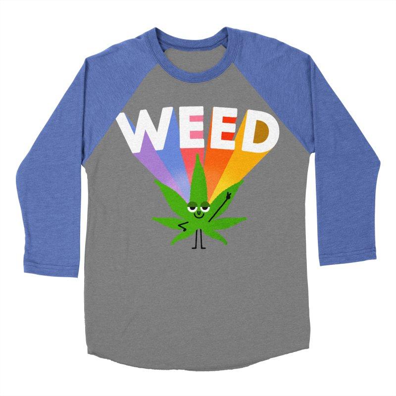 Weed Women's Baseball Triblend Longsleeve T-Shirt by Mauro Gatti House of Fun