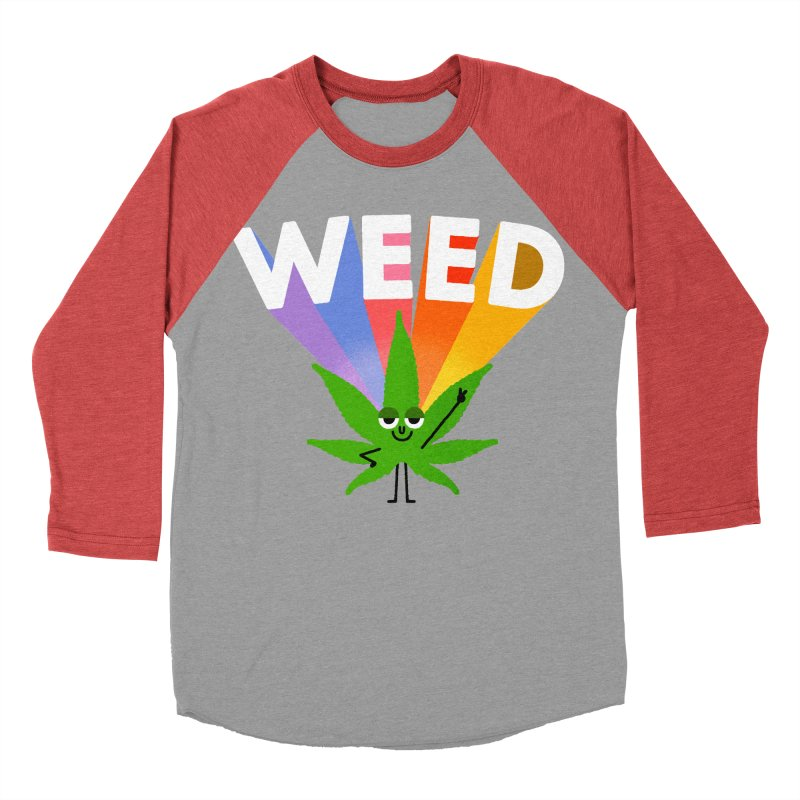 Weed Men's Baseball Triblend Longsleeve T-Shirt by Mauro Gatti House of Fun