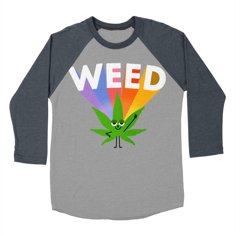 Weed Men's Baseball Triblend T-Shirt by Mauro Gatti House of Fun