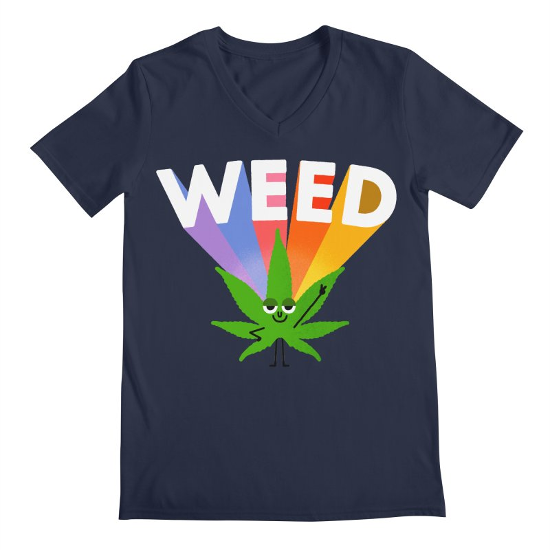 Weed Men's Regular V-Neck by Mauro Gatti House of Fun