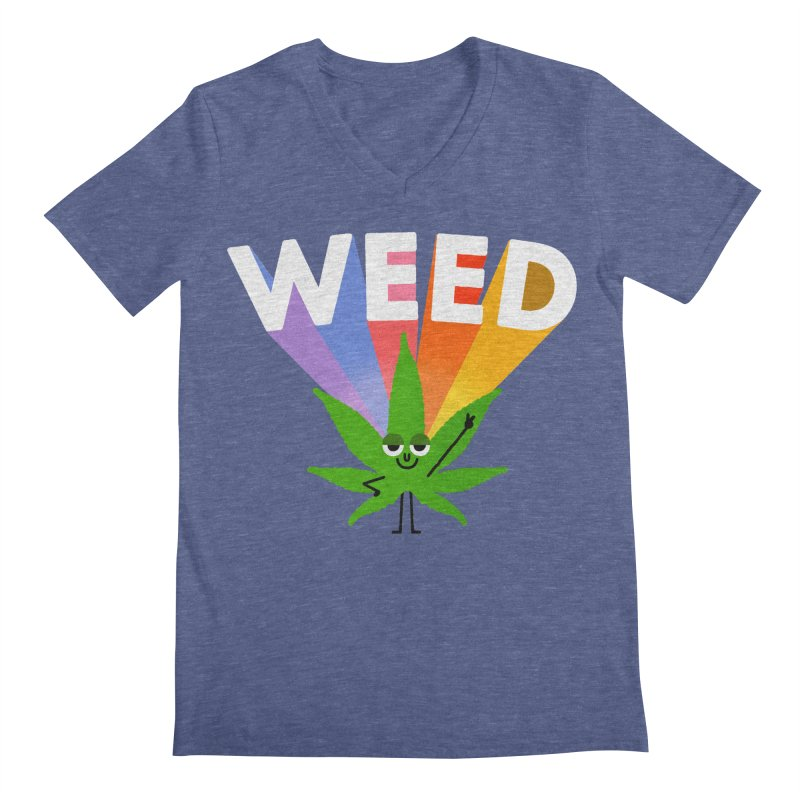 Weed Men's V-Neck by Mauro Gatti House of Fun