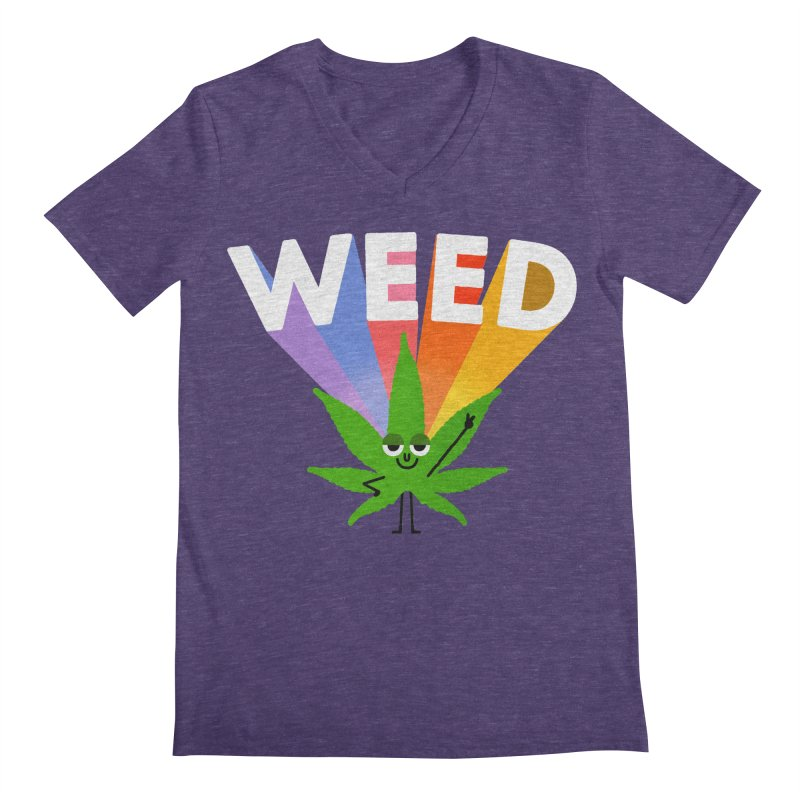 Weed Men's Regular V-Neck by Mauro Gatti House of Fun