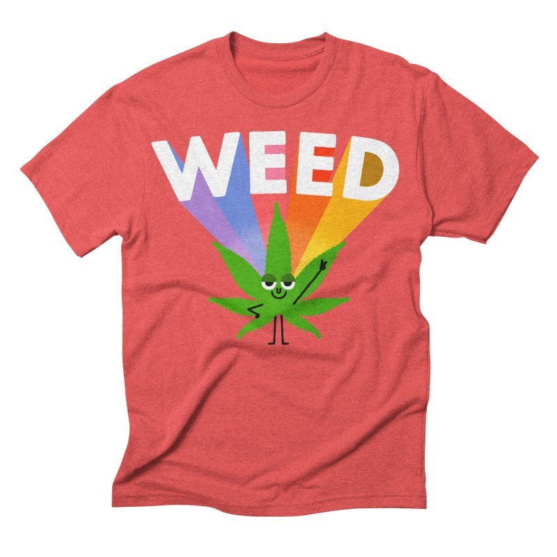 Weed Men's Triblend T-shirt by Mauro Gatti House of Fun