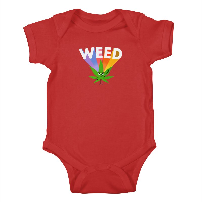 Weed Kids Baby Bodysuit by Mauro Gatti House of Fun