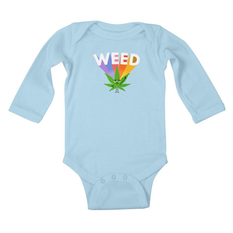 Weed Kids Baby Longsleeve Bodysuit by Mauro Gatti House of Fun