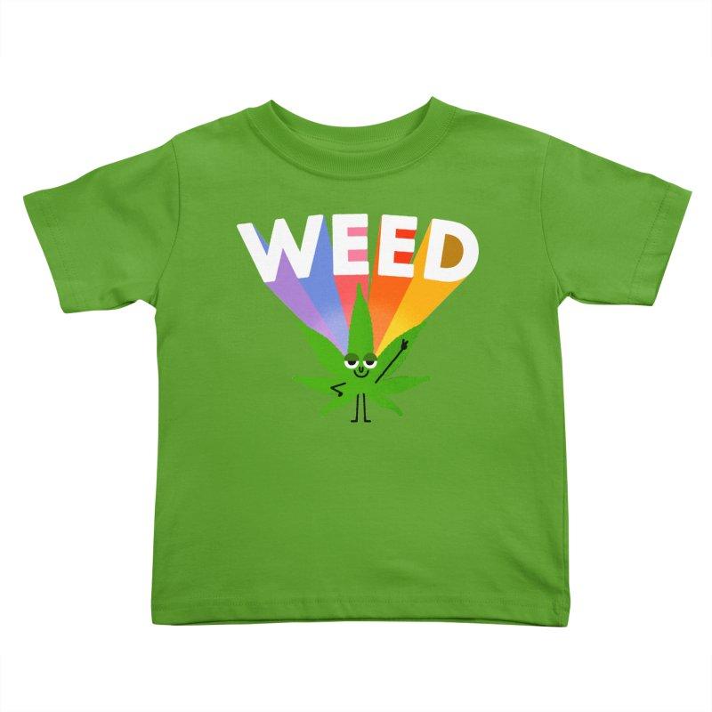 Weed Kids Toddler T-Shirt by Mauro Gatti House of Fun