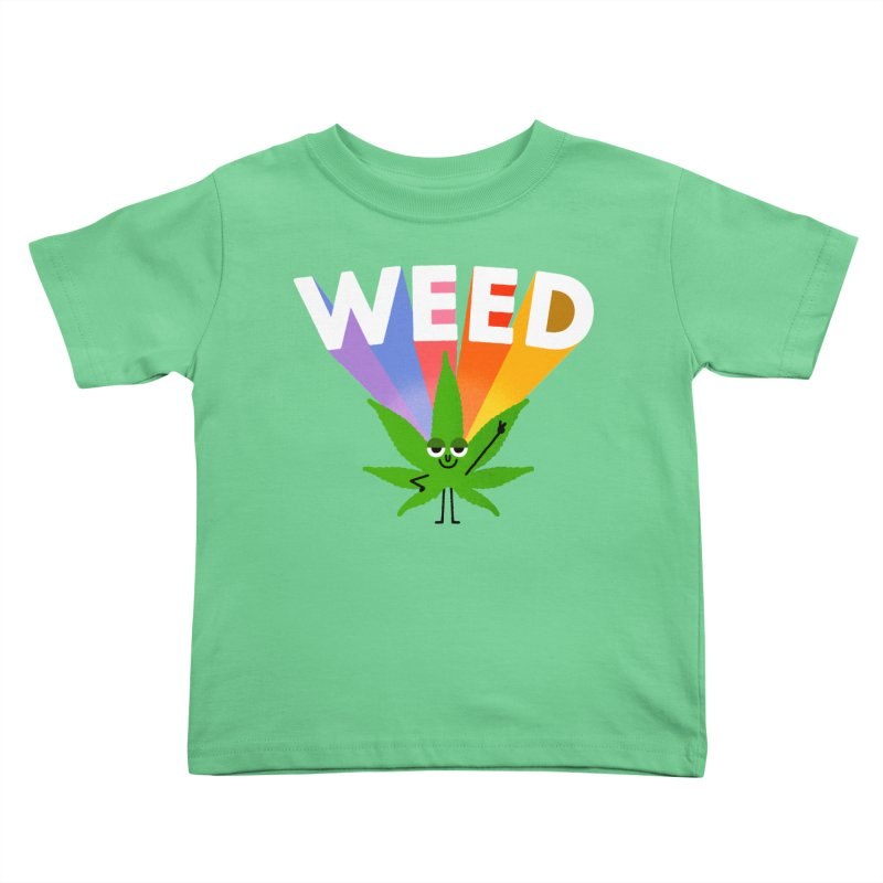 Weed Kids Toddler T-Shirt by Mauro Gatti House of Fun