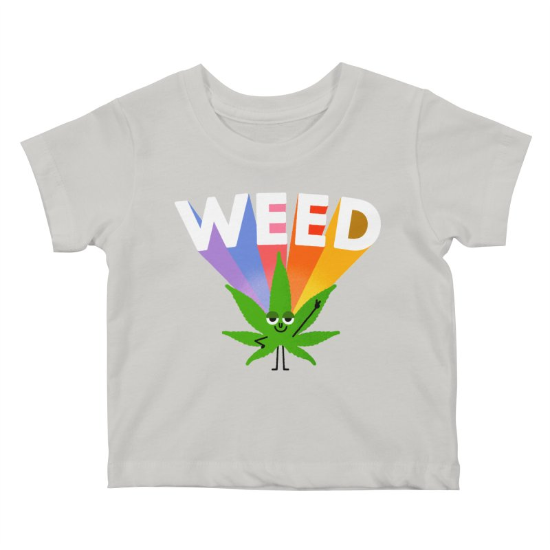 Weed Kids Baby T-Shirt by Mauro Gatti House of Fun