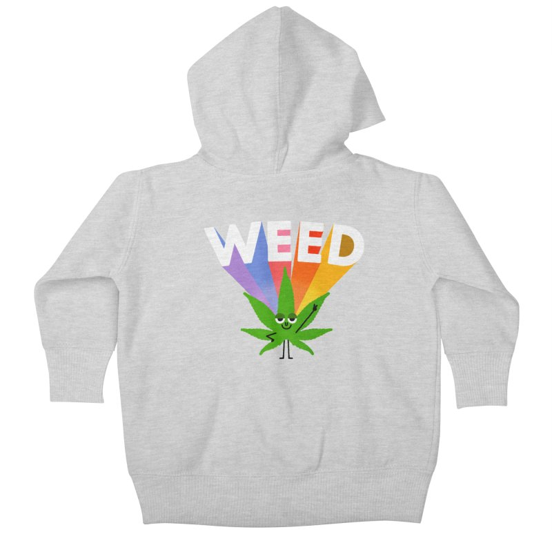 Weed Kids Baby Zip-Up Hoody by Mauro Gatti House of Fun