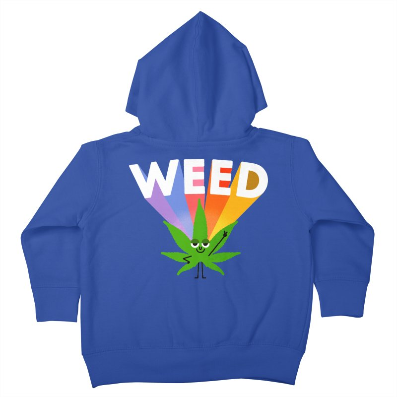 Weed Kids Toddler Zip-Up Hoody by Mauro Gatti House of Fun