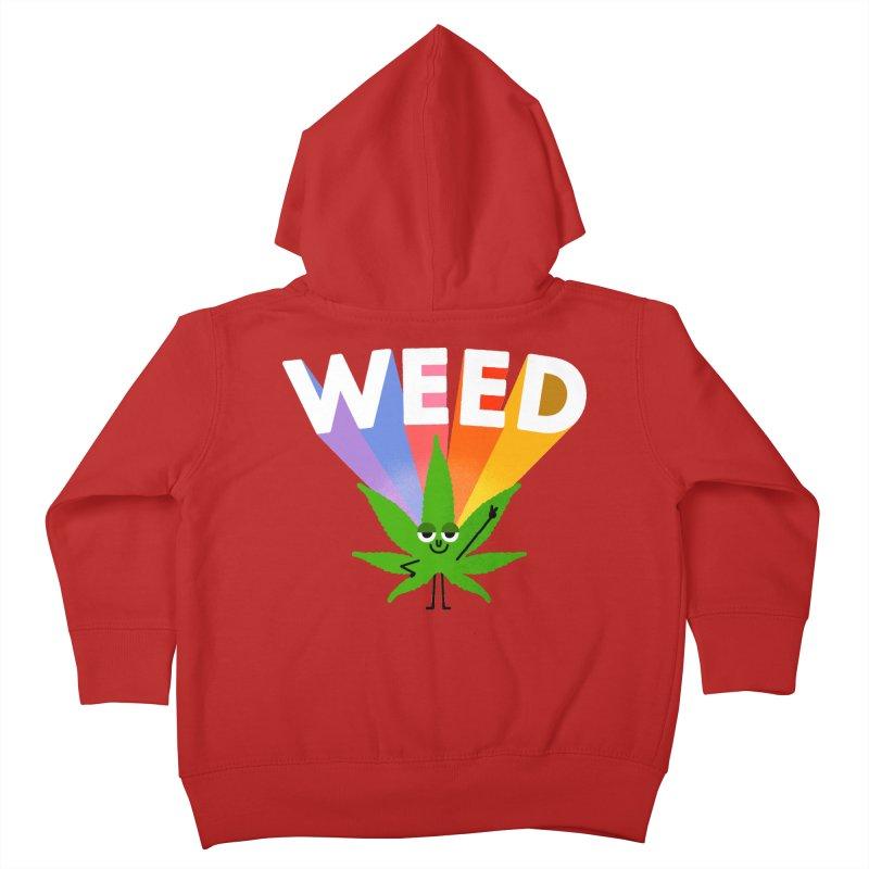 Weed Kids Toddler Zip-Up Hoody by Mauro Gatti House of Fun