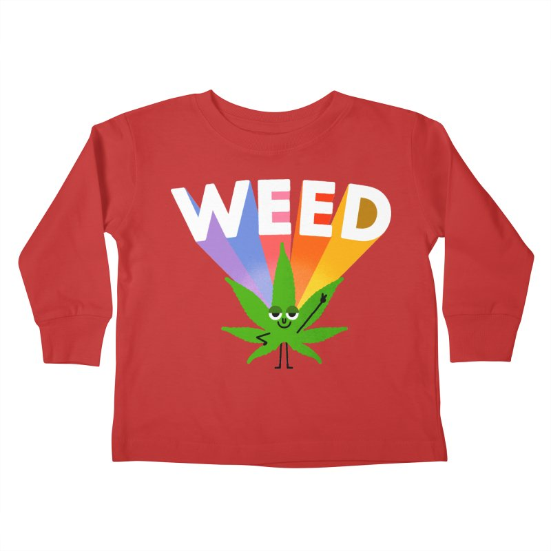 Weed Kids Toddler Longsleeve T-Shirt by Mauro Gatti House of Fun