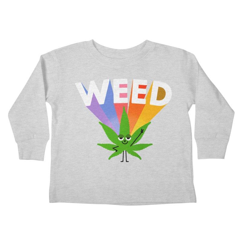 Weed Kids Toddler Longsleeve T-Shirt by Mauro Gatti House of Fun