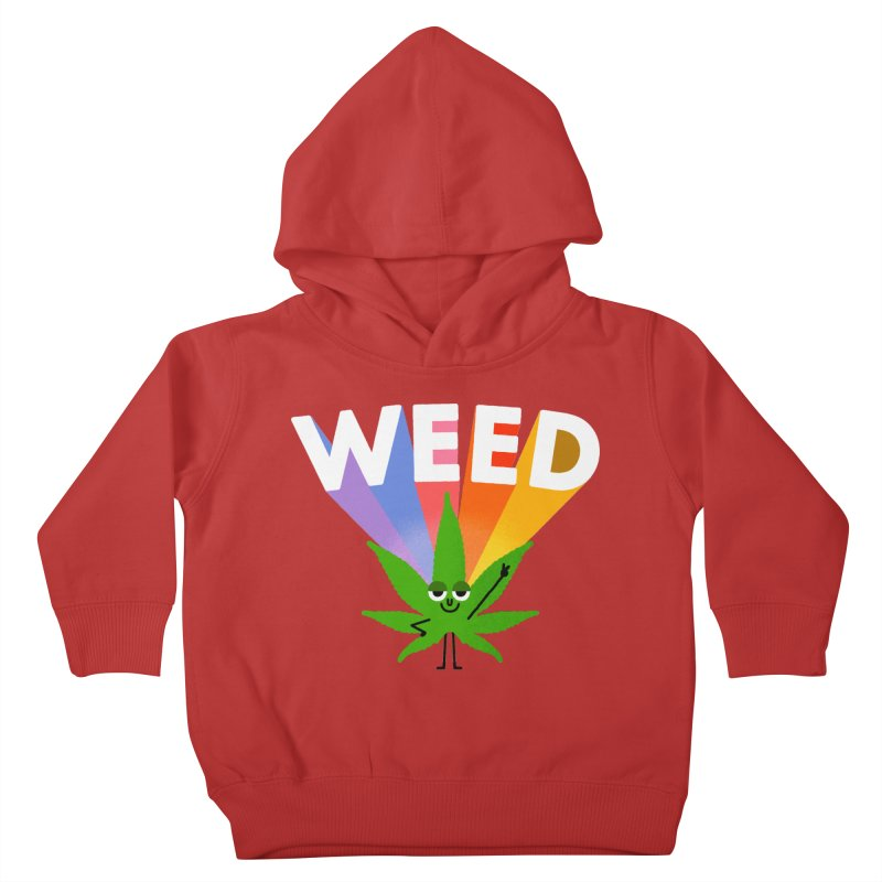 Weed Kids Toddler Pullover Hoody by Mauro Gatti House of Fun