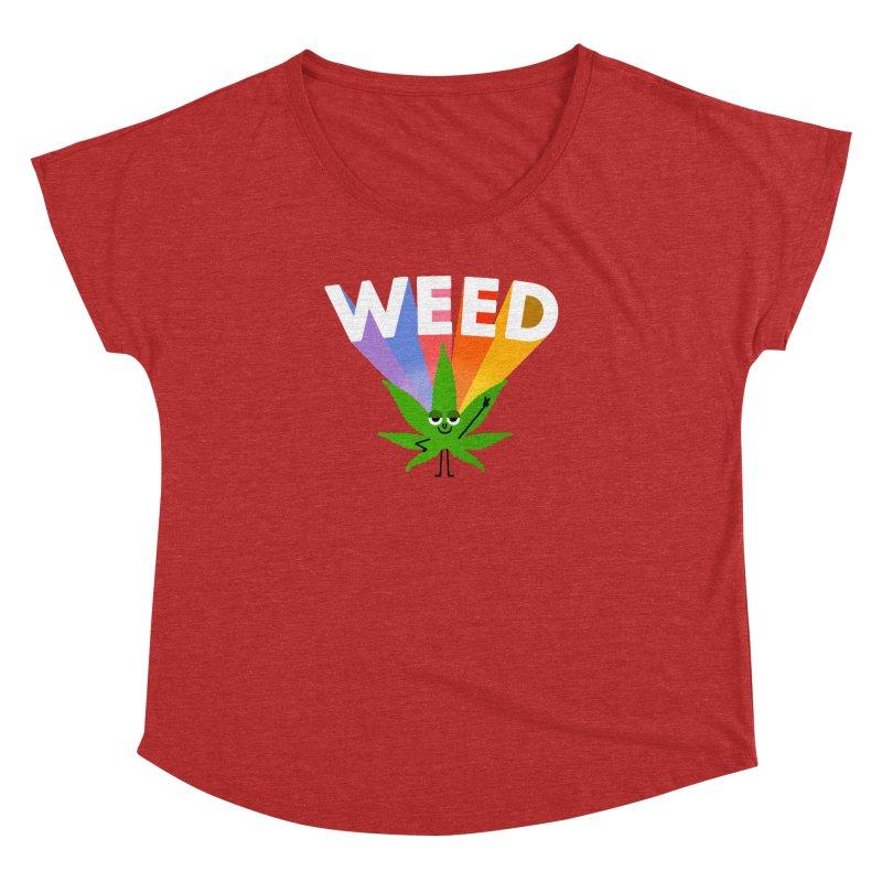 Weed Women's Dolman Scoop Neck by Mauro Gatti House of Fun