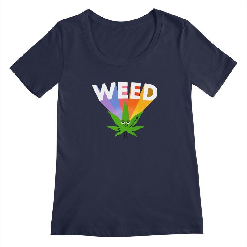 Weed Women's Scoopneck by Mauro Gatti House of Fun